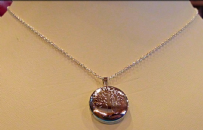 Tree Of Life Locket Silver Necklace